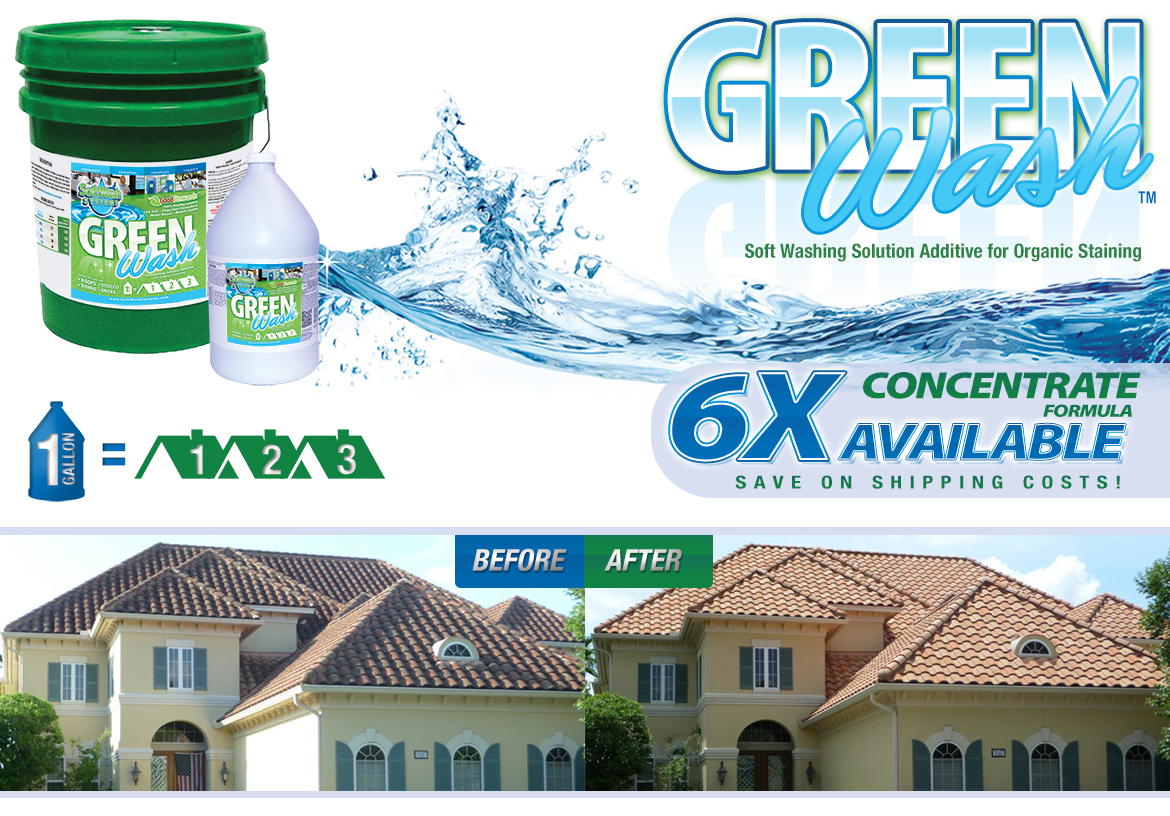 Green Wash Soft Washing Solution Additive For Organic